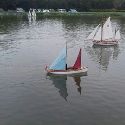 The club's first steam powered sailing yacht !!