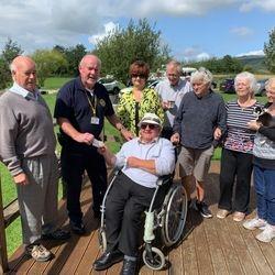 Brian Isaac donation to the Dorset & Somerset Air Ambulance service.