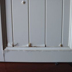 before kitchen door restoration