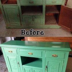 before and after furniture restoration