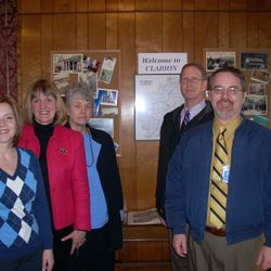 State Rep Donna Oberlander, CCHS Director Mary Lea Lucas, Trail Towns Pres. Mary Zeller, Clarion Co. Commssioners Greg Faller & Wayne Brosius