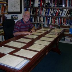 Jim Parson, Library Assistant, archiving Civil War Documents