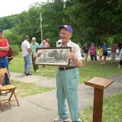 Guest Todd Curll shows 1928 church photo.