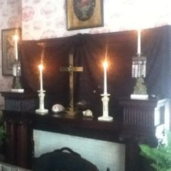 Mirrors covered to prevent evil spirits from entering deceased.