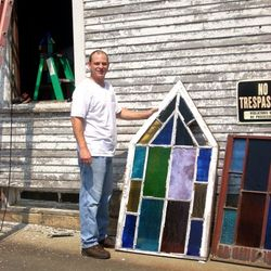 Terry Courson restored the windows, and scraped & painted the church.