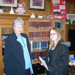 CATTCO Pres. Mary Zeller &  Brandi Stretavski from the Leader Vindicator.