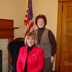 Mary Lea Lucas, CCHS Executive Director(L) & Betty Elza Regent, Clarion DAR