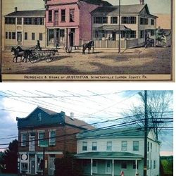 Strattan House in 1877 & 2013