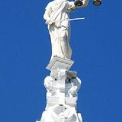 Lady of Justice atop the Courthouse