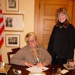Clarion Boro Mayor Andrea Estadt & CCHS Executive Director Mary Lea Lucas
