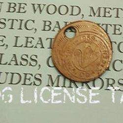 WA 1959 Dog Licence Tag
