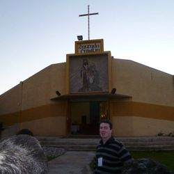 At the Sagrada Familia chapel (Valparaiso, Chile)