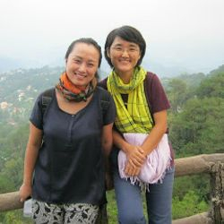 Anna and Sunny from Korea assigned in the Philippines.