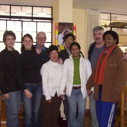 Ann and Serafina with the parish team in the parish (Lima).