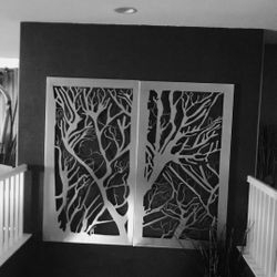 Custom Art stainless steel done for customers house.