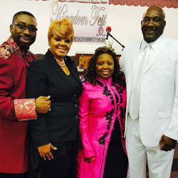 Apostle D. L and Prophet Jeanette Wilson with Bishop and Apostle Hurd