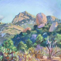 """View of Iron Mountain, 19x23"""" Pastel, 2009"""