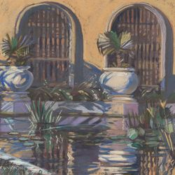 "Botanical Reflecting Pond, 16x20"" Pastel, 2012"