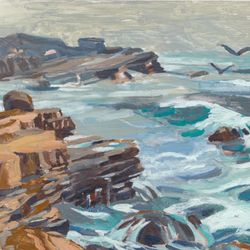 "Cabrillo Sea, Oil, 9x12"", 2013"