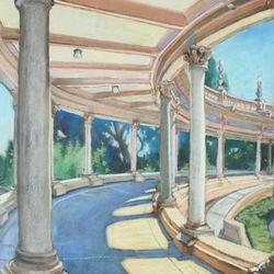 "Organ Pavilion, 19x23"" Pastel, 2007"