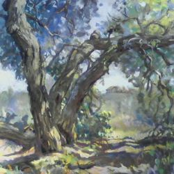"Mt. Woodson Blue Oak, 19x223"" Pastel 2009"