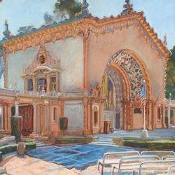 "Organ Pavilion, 18x24"", Pastel"