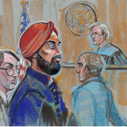 Tuesday, February 18, 2014 L to R: Timothy Perry, Ravneet Singh, Judge Mitchell Dembin, Mike Lipman.