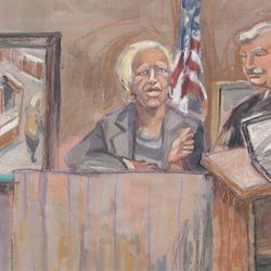 """TheStand"" Tuesday, Jan 11, 2011 L to R:  Doris Payne, Judge Frank Brown."