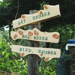 Bee, bird, and bat boxes are available for sale. Just ask.