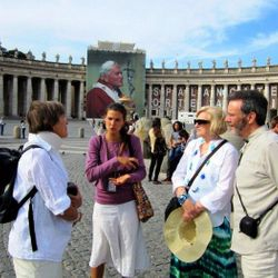 Vatican tour - John Paul II's beatification on 1 May