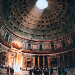 Colosseum & City Walk Tour - inside the Pantheon