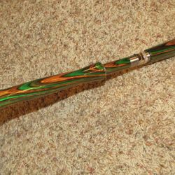 Full Wells Fly Handle Made from Color Wood with Long Fighting Butt
