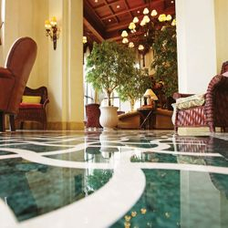 Tile Polishing Hotel Lobby