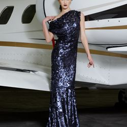 8605 Cowl Gown