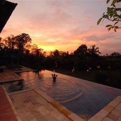 Sunset at Villa