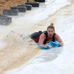 Dirt wars survivor waterslide
