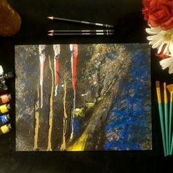 dos Ramos Studio Acrylic Painting