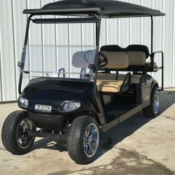 2015 EZGo TXT Gas Stretch Limo - Street Legal Light Kit - Custom Wheels and Tires - Extended Roof - Rear Flip Seat - Windshield