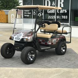 2013 EZGo TXT 48V - Custom Wheels - Lift Kit - Street Legal Light Kit - Custom Body - Rear Flip Seat