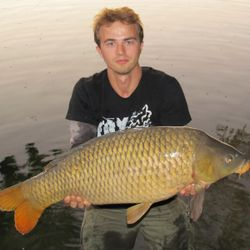 Carp fishing ebro river -Spain