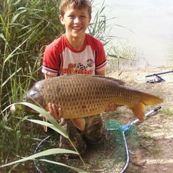 Family Carp fishing river ebro spain