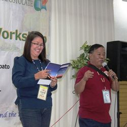 The emcees, Fr. Buz and Flor Siasico