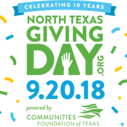For more information click the link below and support us on North Texas Giving Day 9.20.18