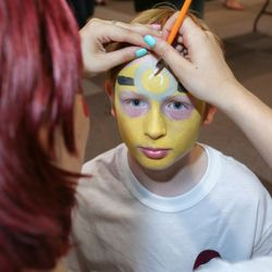 The Minion face paint is a favourite of younger customers!