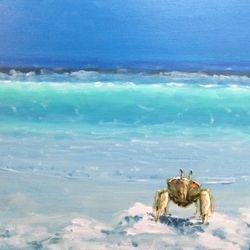 """Crabby 16""""X20"""" Acrylic on Canvas $395"""