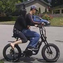 long banana seat ebike double rider