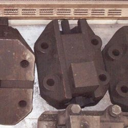 "Set of (3) 7"" Hole Centers x 9.5"" Wide x 11 3/8"" Long with 1"" Diameter Holes B"