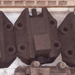 "Set of (3) 7"" Hole Centers x 9.5"" Wide x 11 3/8"" Long with 1"" Diameter Holes A"