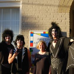 """KISS"" and the FLAG President at the 2016 Kaolin Festival Art Show"