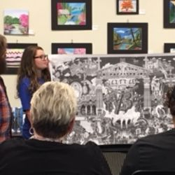 Ashley Anderson presents at the May 7, 2018 Membership meeting. The topic: Murals, Paintings, Drawing, Abstracts, and More.
